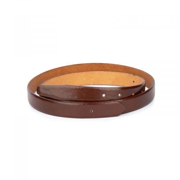 1 inch cognac leather belt strap 1