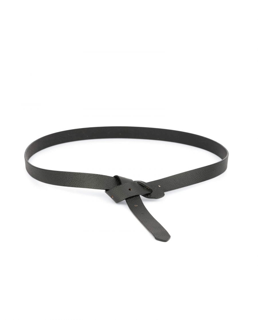 black skinny waist belt for women 1