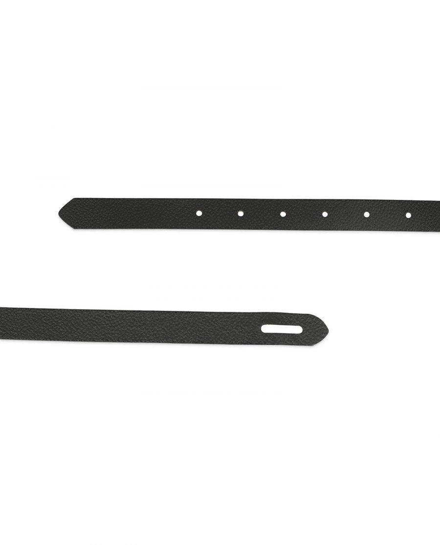 black skinny waist belt for women 3