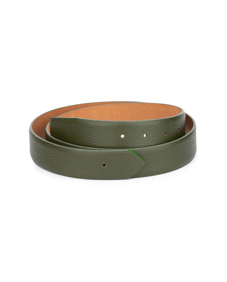 forest green replacement belt strap without buckle 1