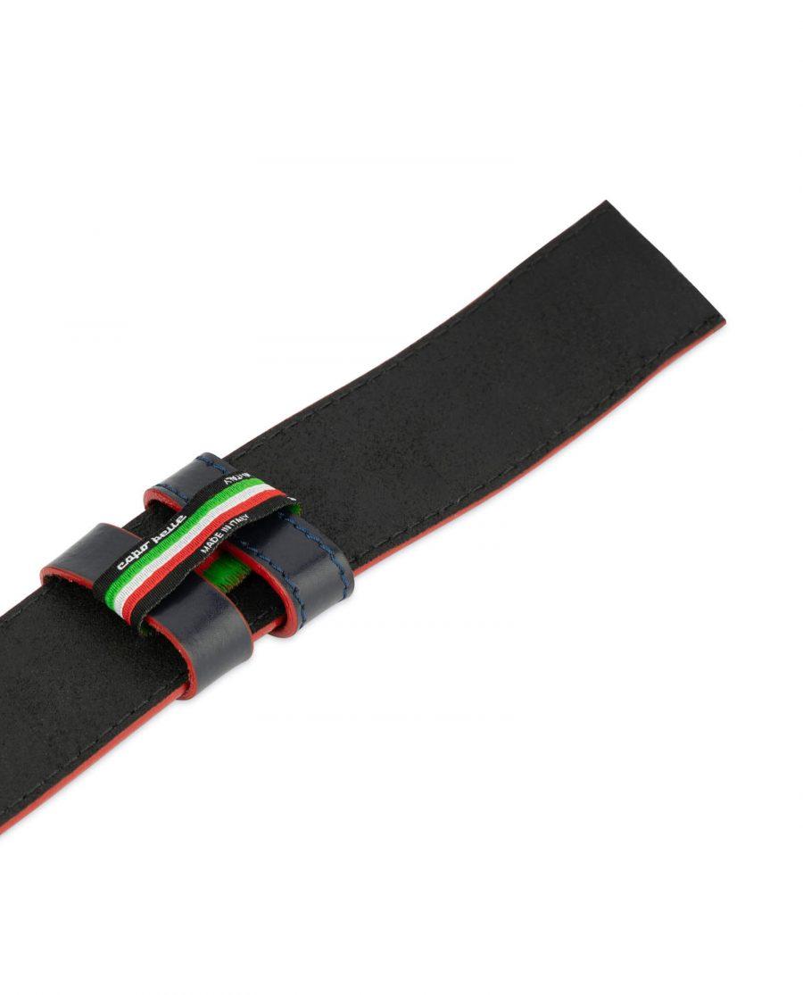 mens navy blue belt strap 1 5 inch 3