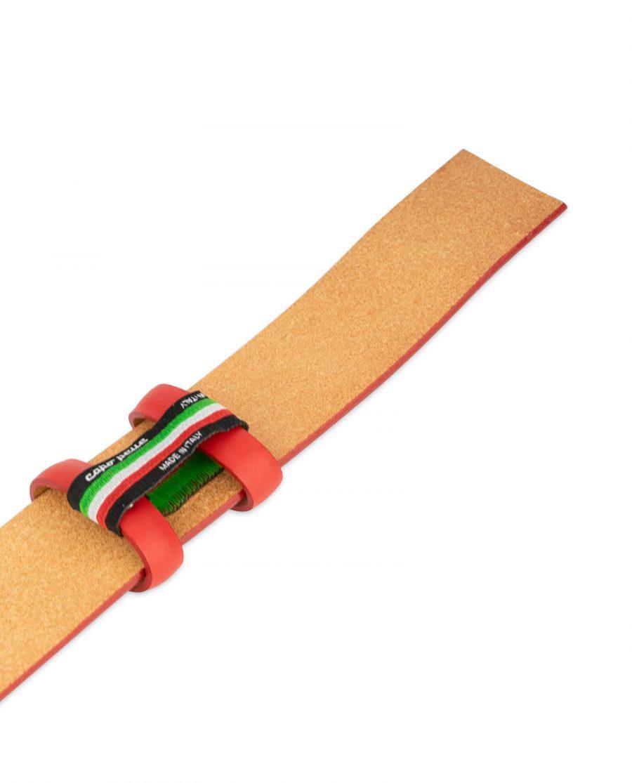 mens red leather belt strap 3