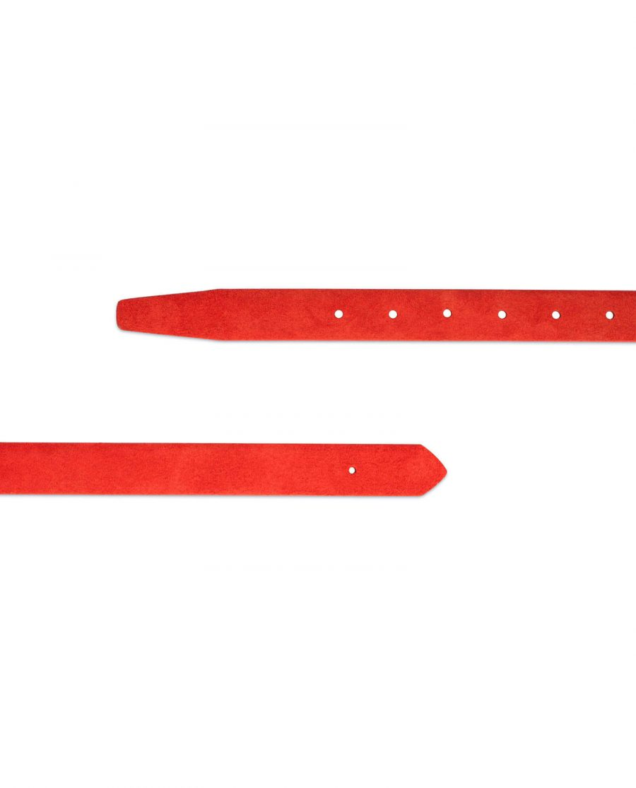 red suede leather buckle strap 2