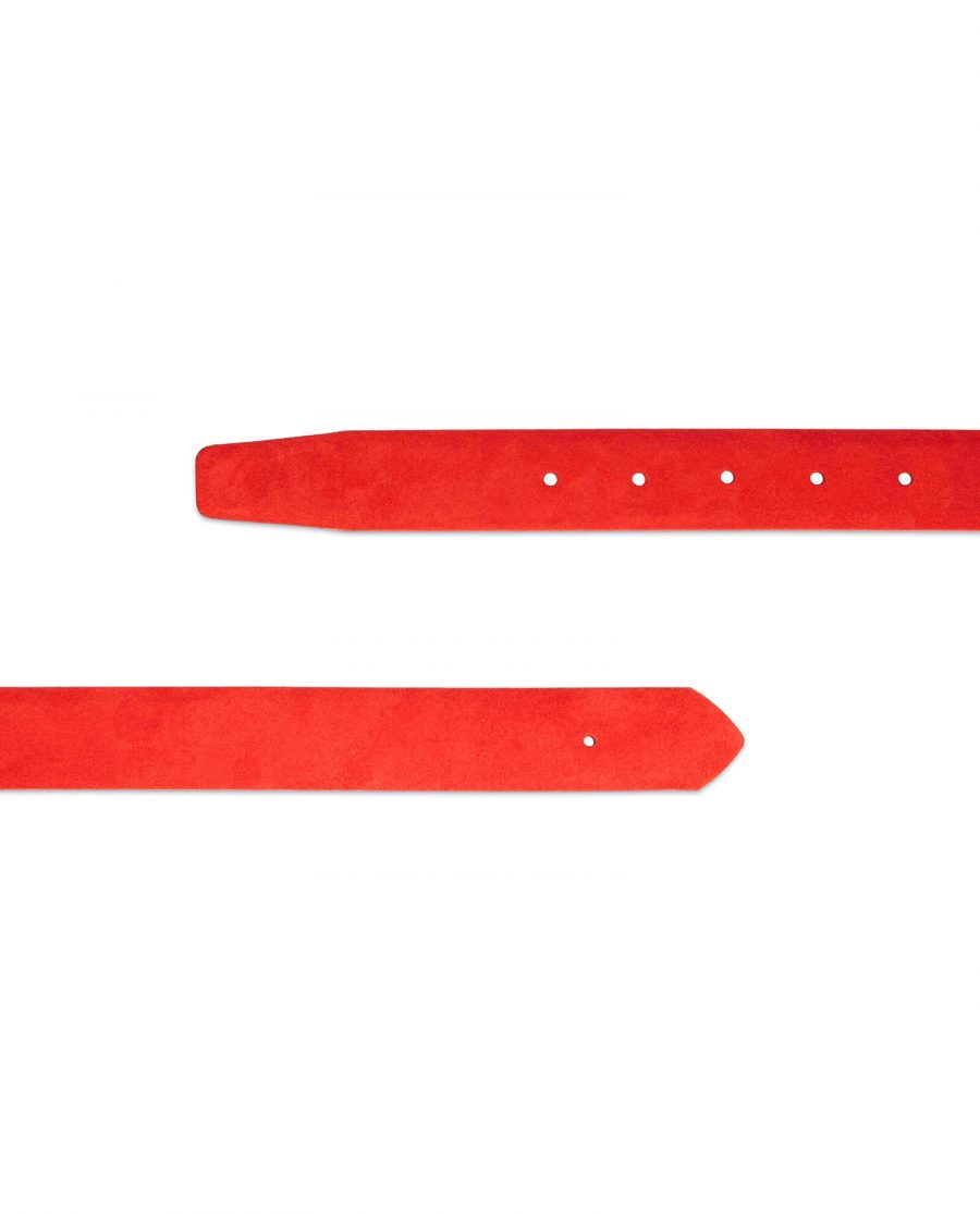 replacement 30 mm red suede belt strap 2