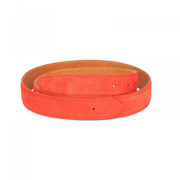 replacement 35 red suede belt strap 1