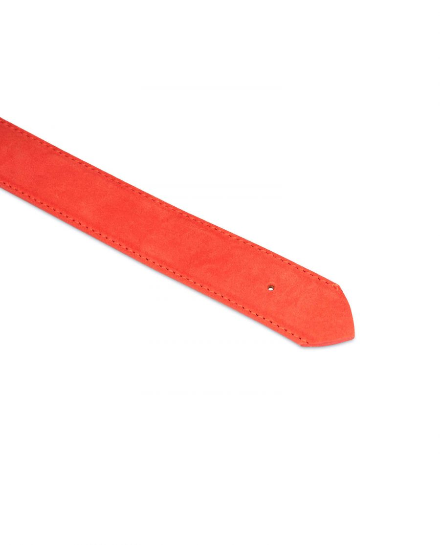 replacement 35 red suede belt strap 2