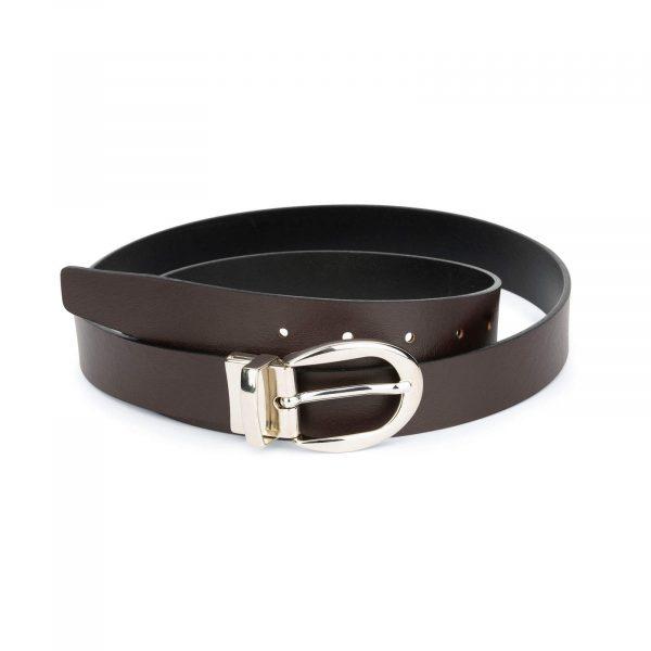 reversible leather belt for women 1