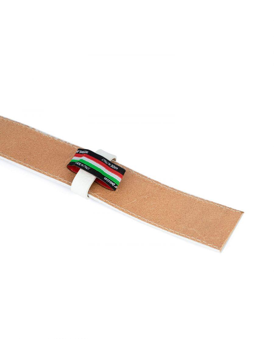 white leather belt strap 35 mm 2