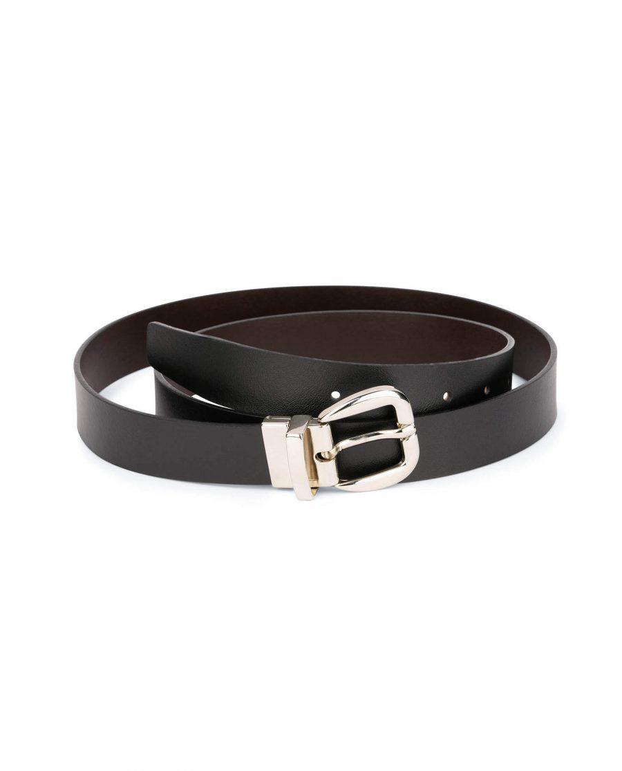 womens reversible belt Black Brown 2