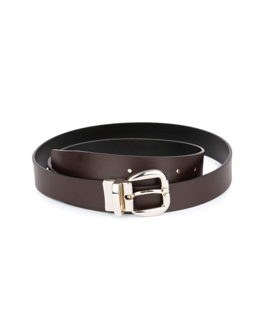 womens reversible belt Black Brown 3