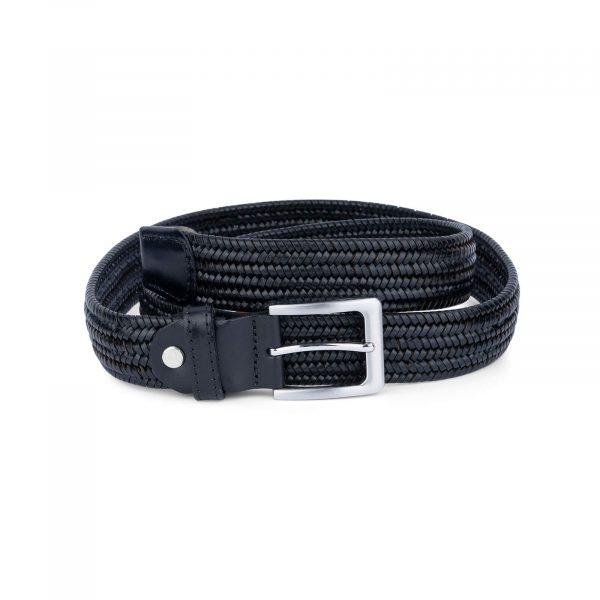 black braided leather stretch belt for men 45usd 1