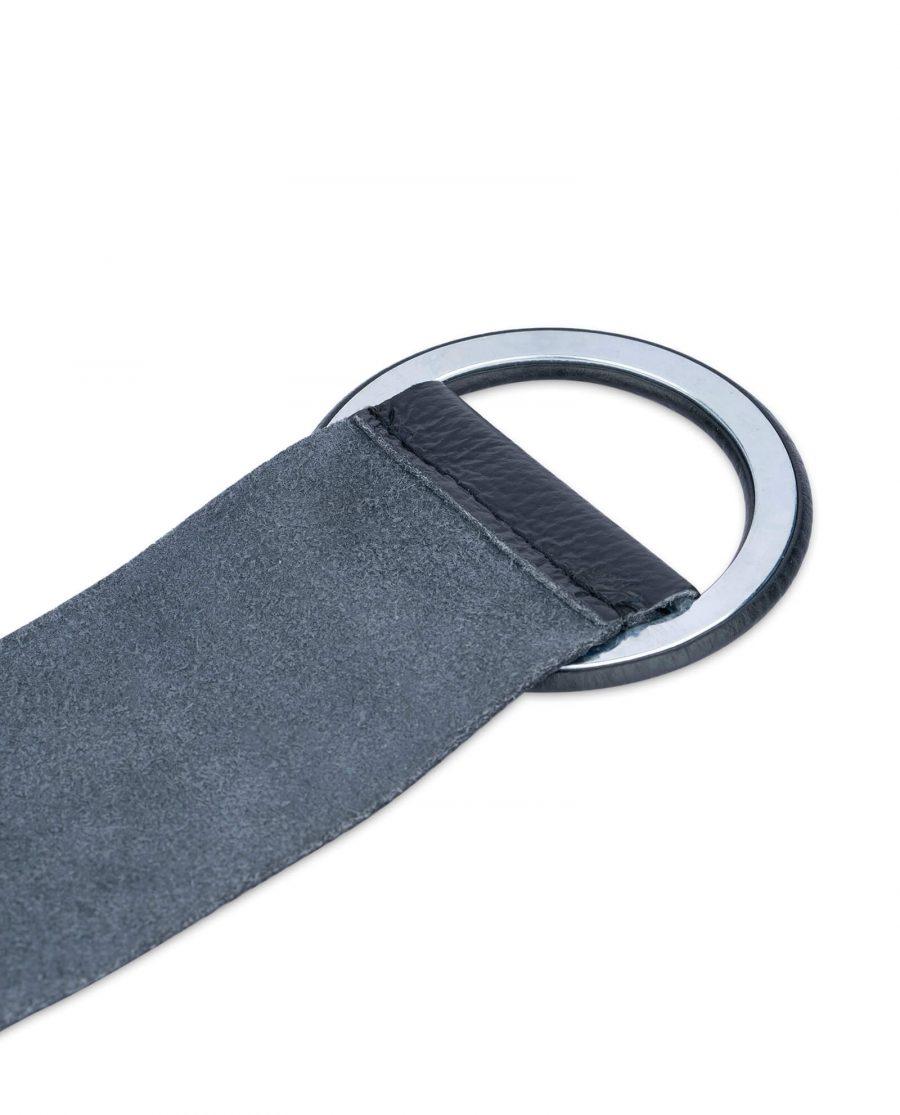 black high waist belt for dresses round buckle 6 cm sz36 4