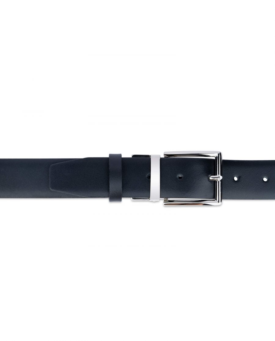black vegan mens belt 35 mm 12