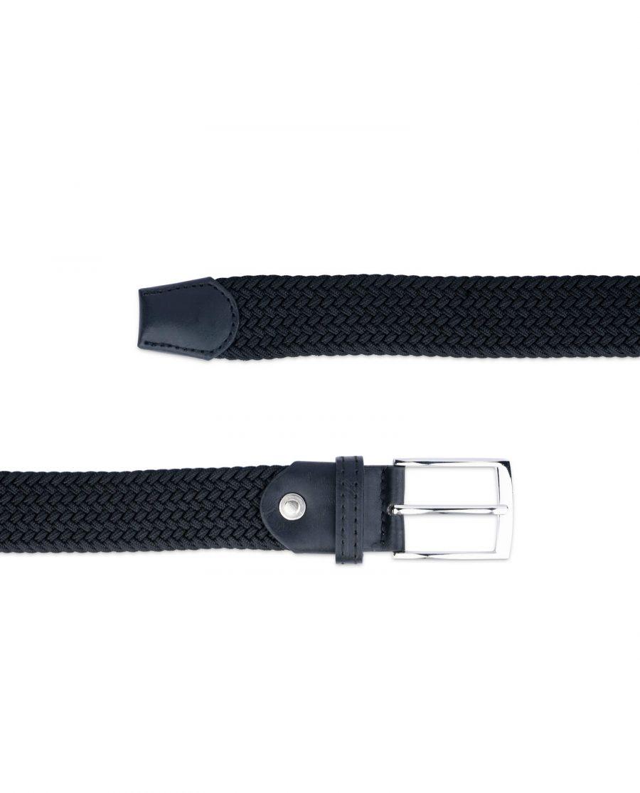 black woven vegan leather belt 19usd 2