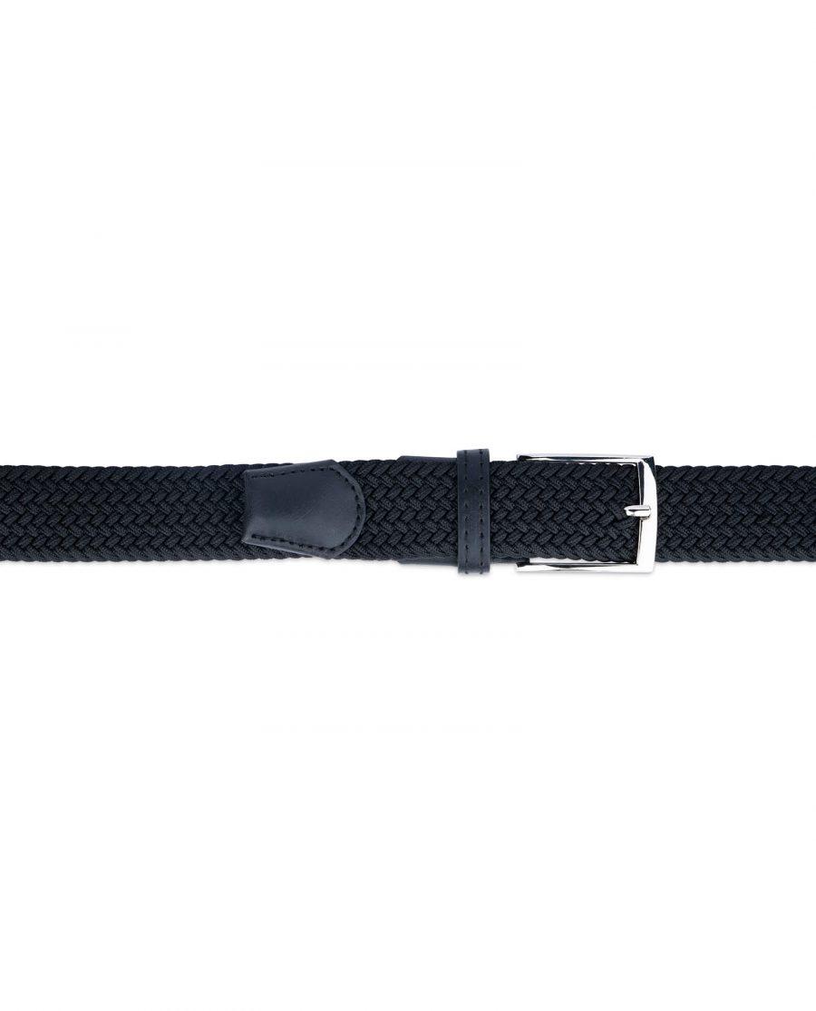 black woven vegan leather belt 19usd 3