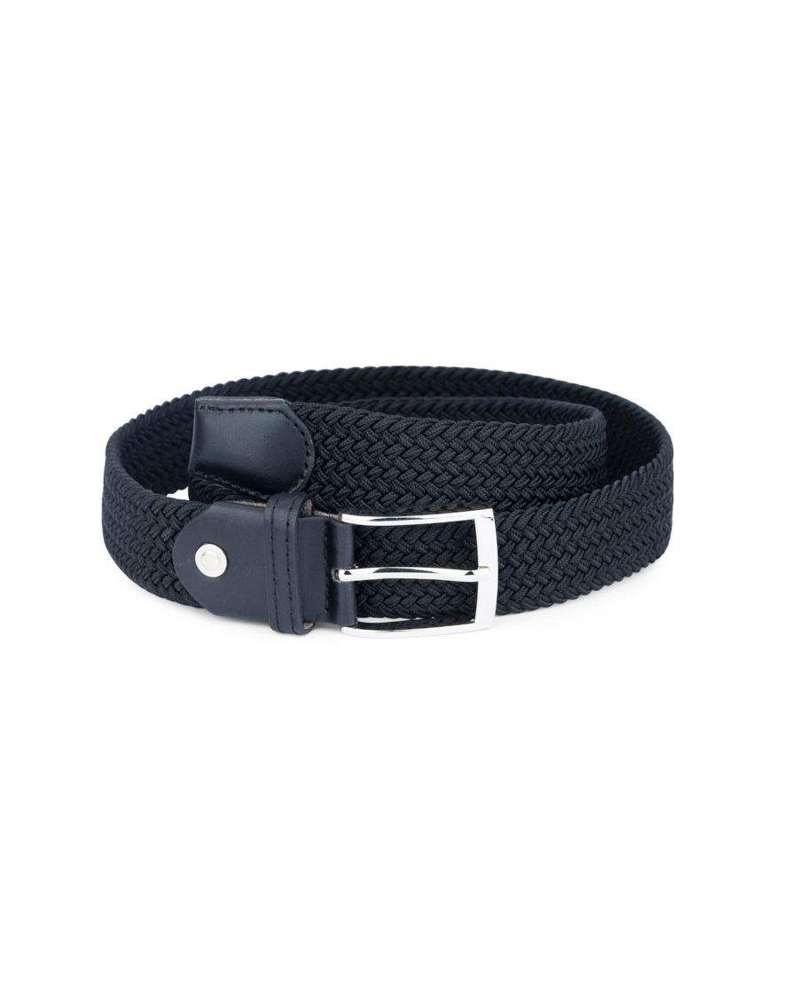 black woven vegan leather belt 19usd 4