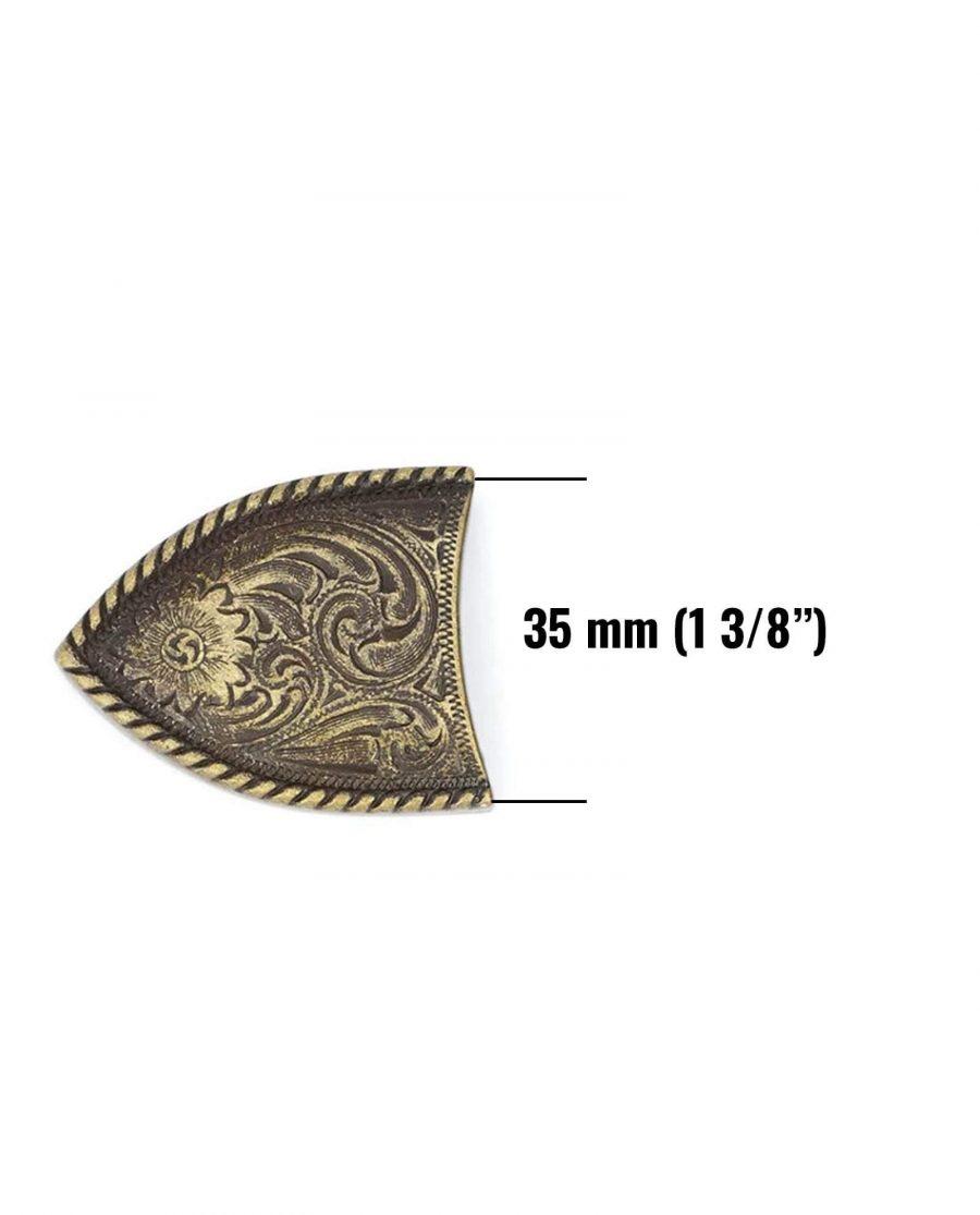 bronze belt end caps tips bronze 38mm 5usd 6