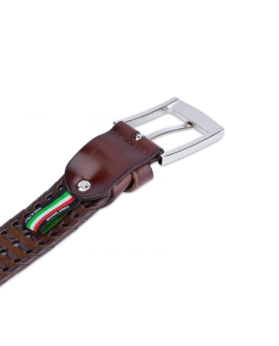 brown braided belt for men 35usd 1