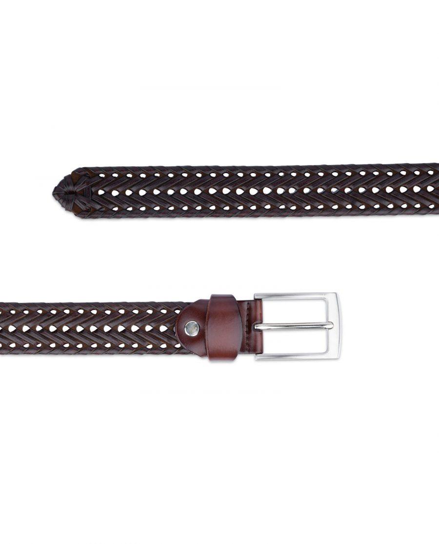 brown braided belt for men 35usd 3