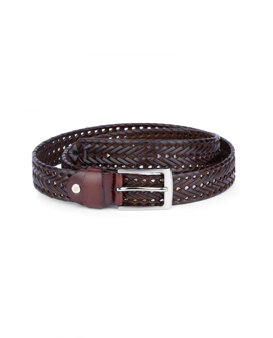 brown braided belt for men 35usd 4