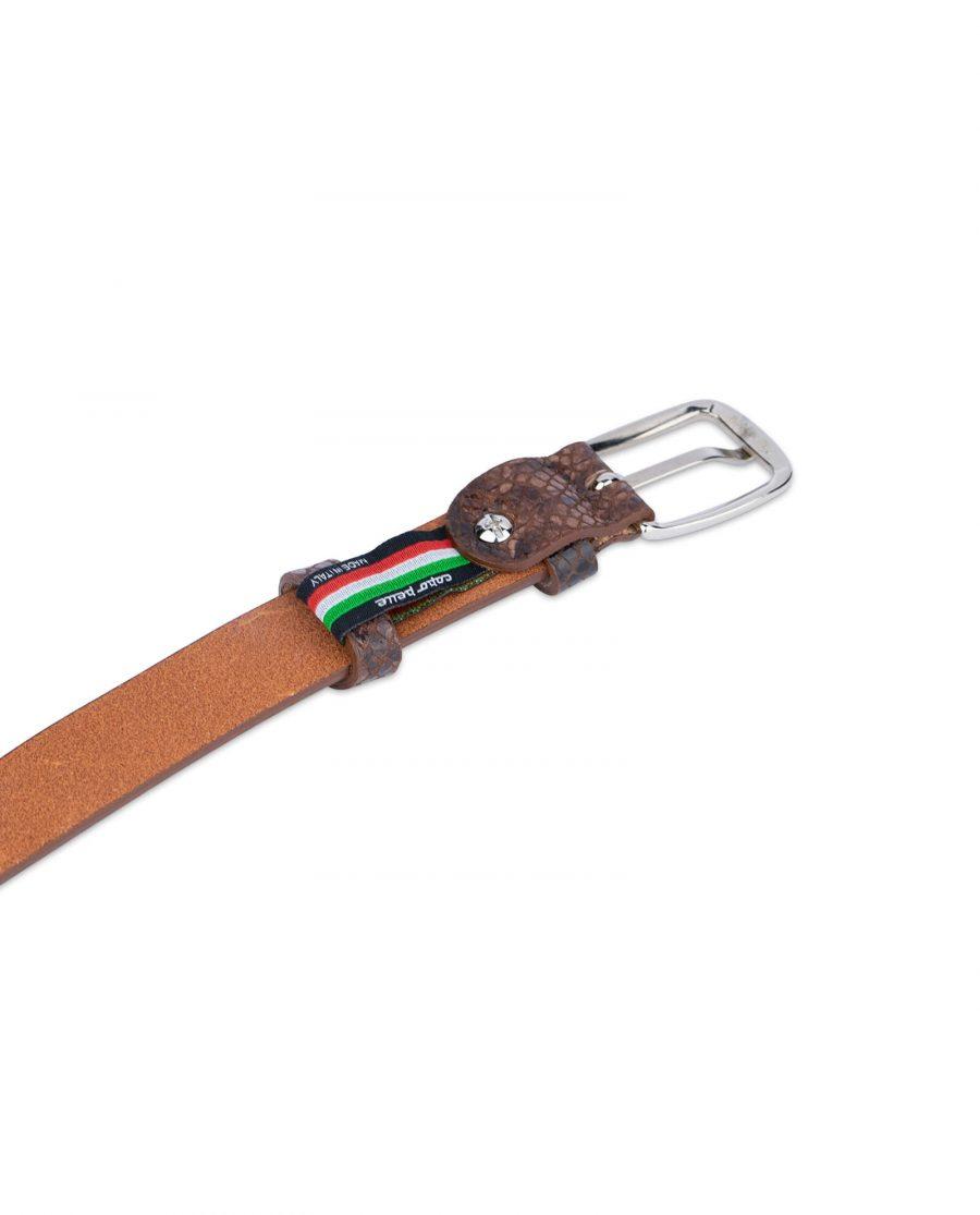 brown snakeskin belt 25 mm 1