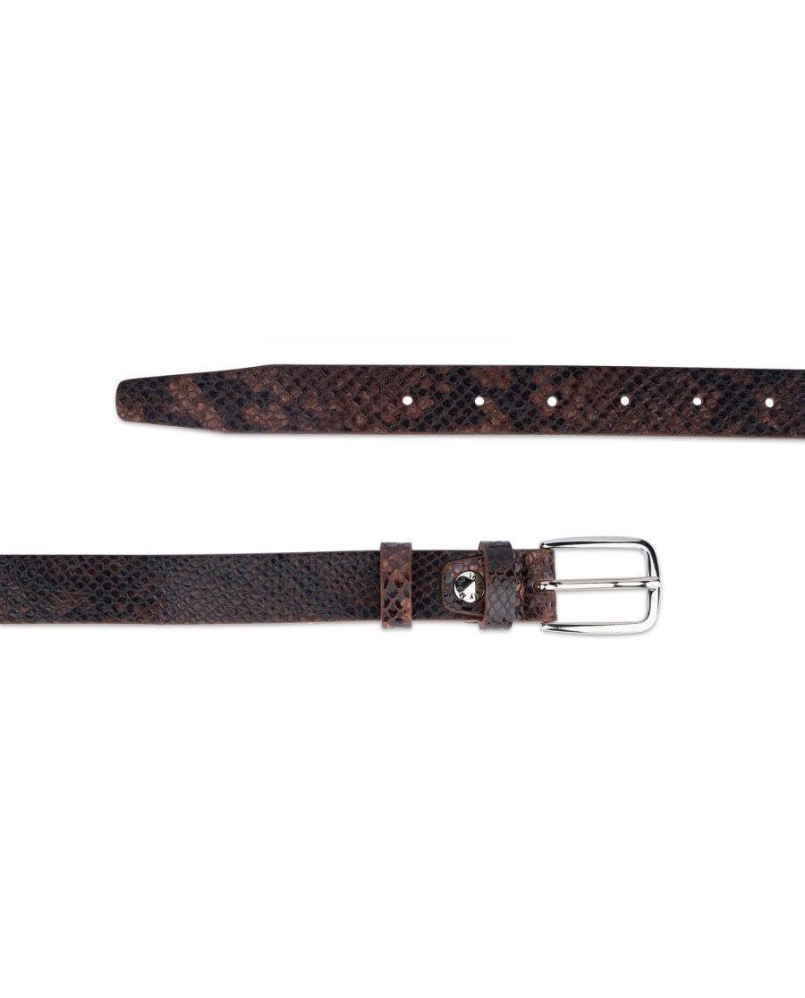 brown snakeskin belt 25 mm 2