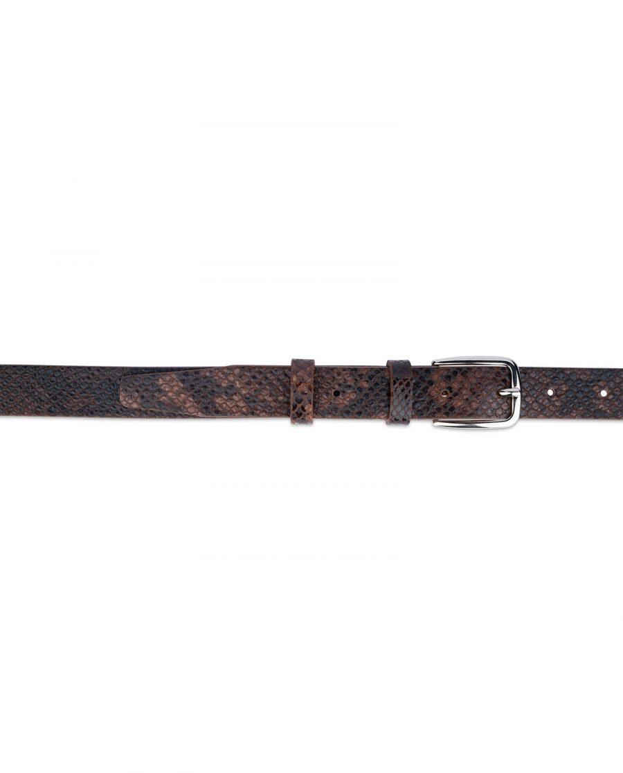 brown snakeskin belt 25 mm 3