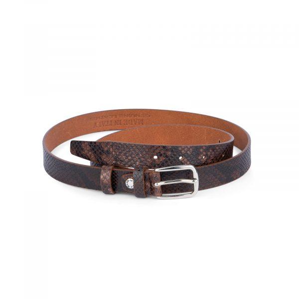 brown snakeskin belt 25 mm sz28 46 4