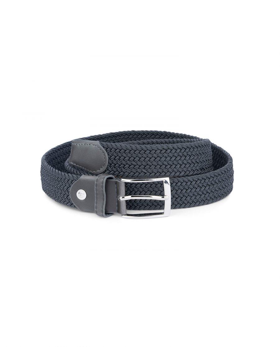 dark grey stretch belt for men 19usd 4