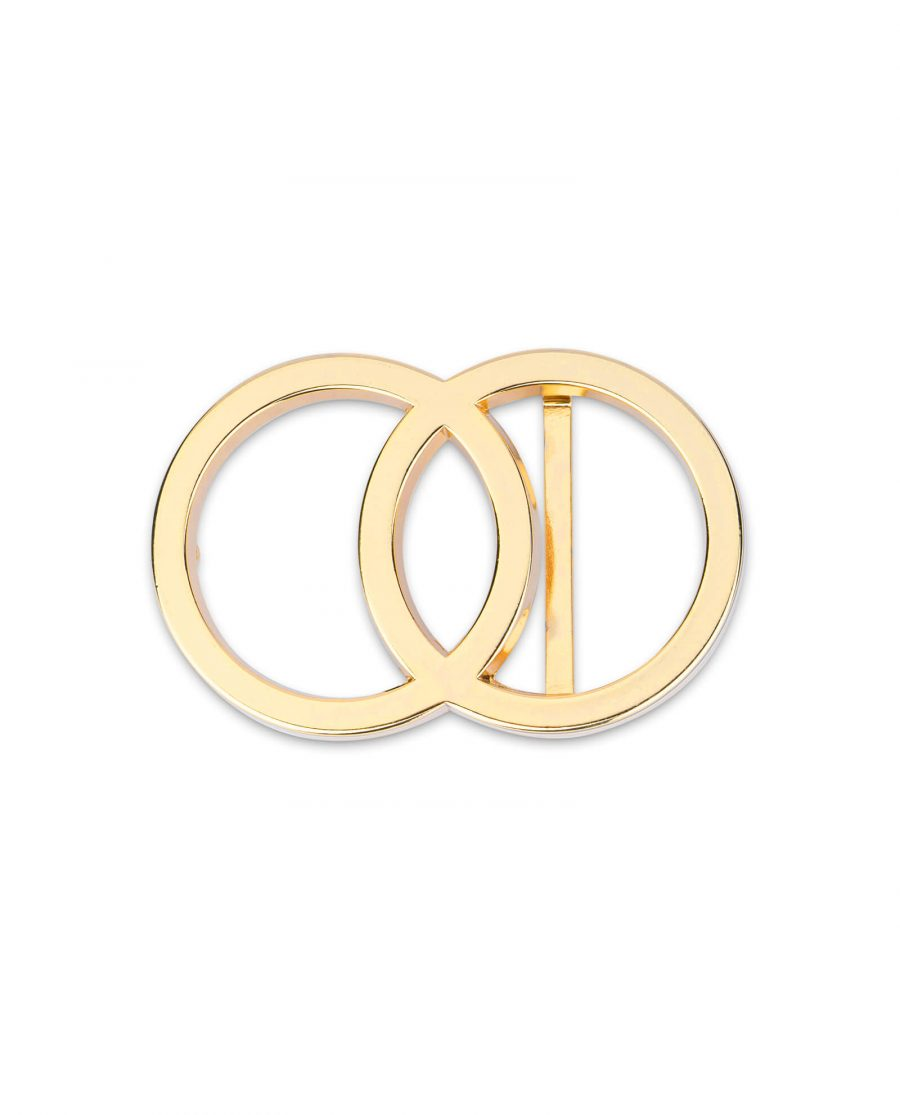 gold double circle buckle 40 mm 2