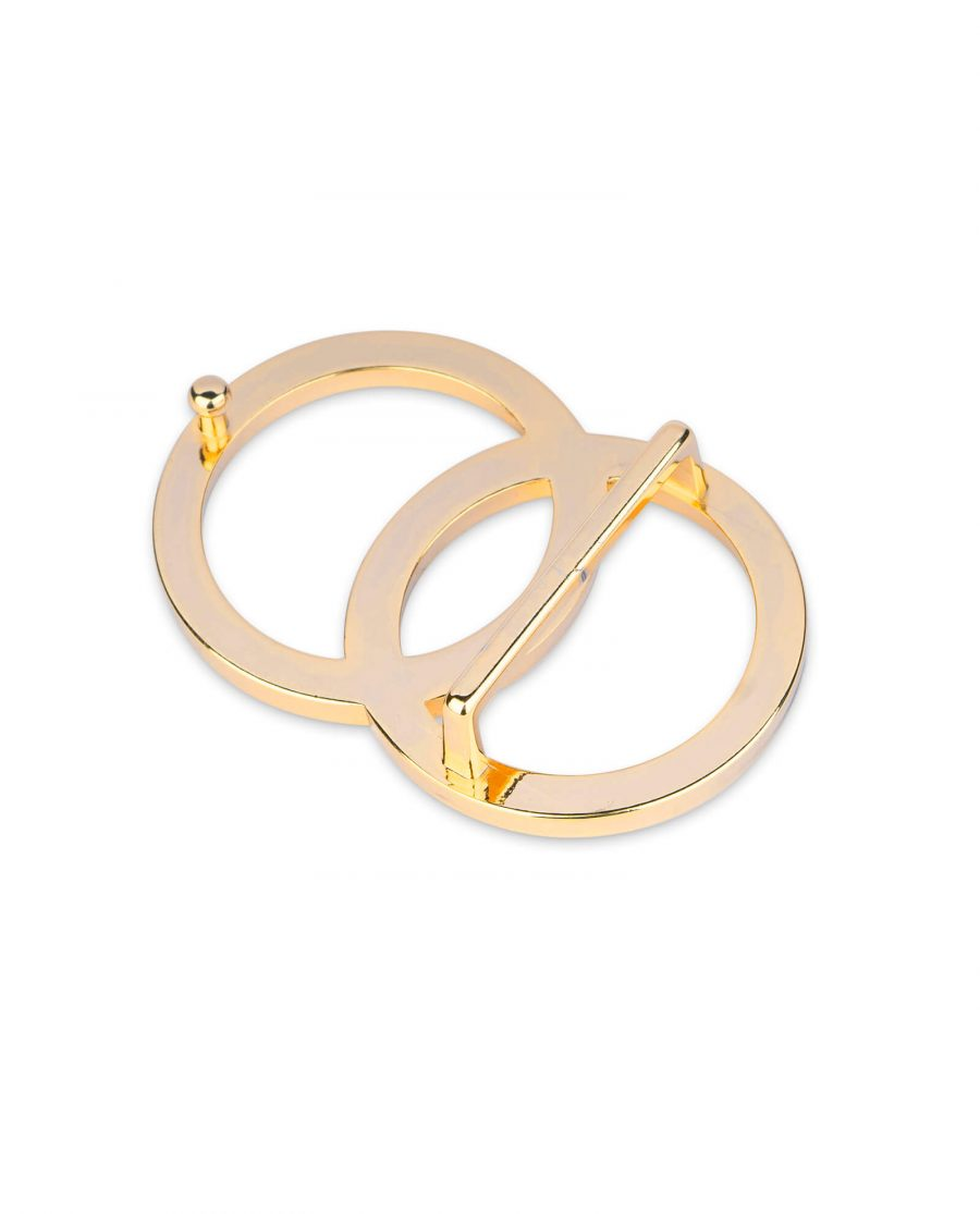 gold double circle buckle 40 mm 3