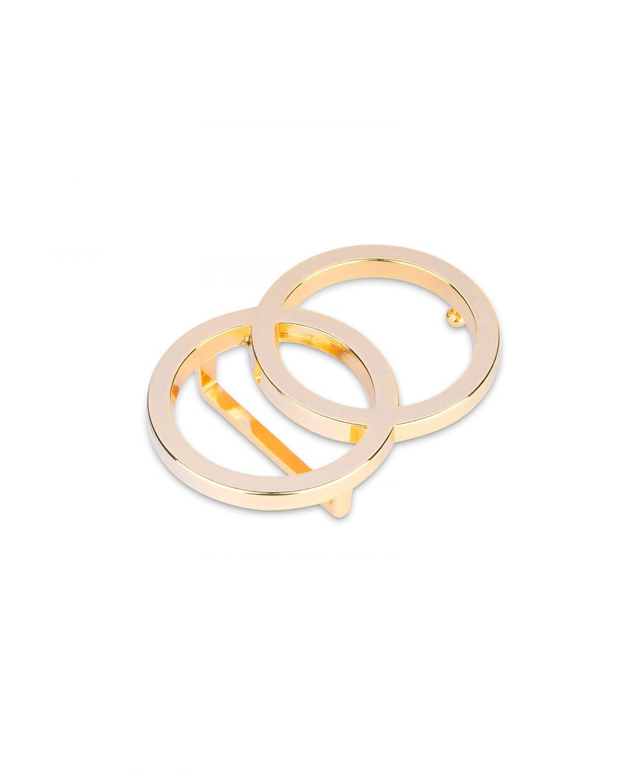 gold double circle buckle 40 mm 4