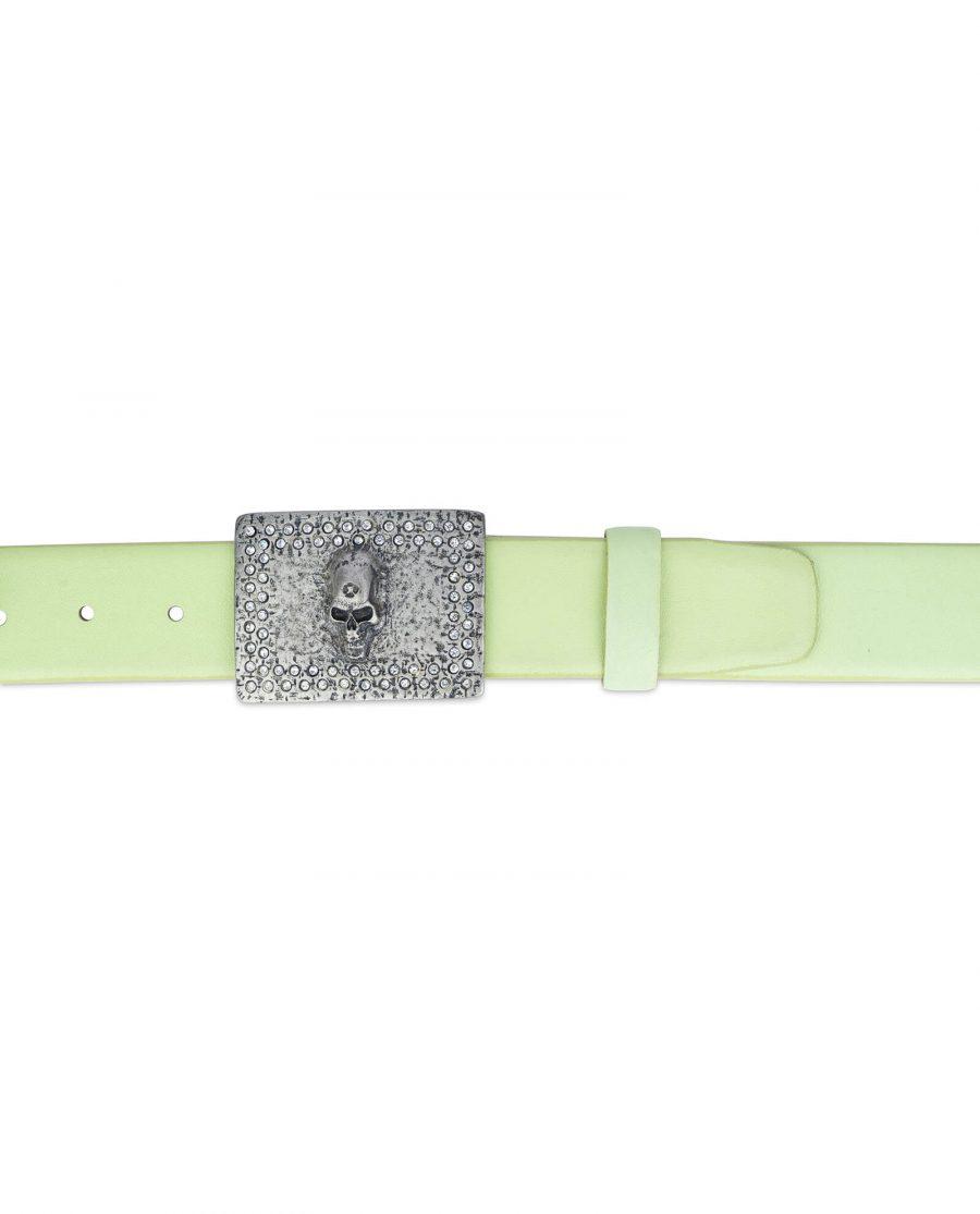 green belt with skull buckle swarowski crystals 35 mm 2