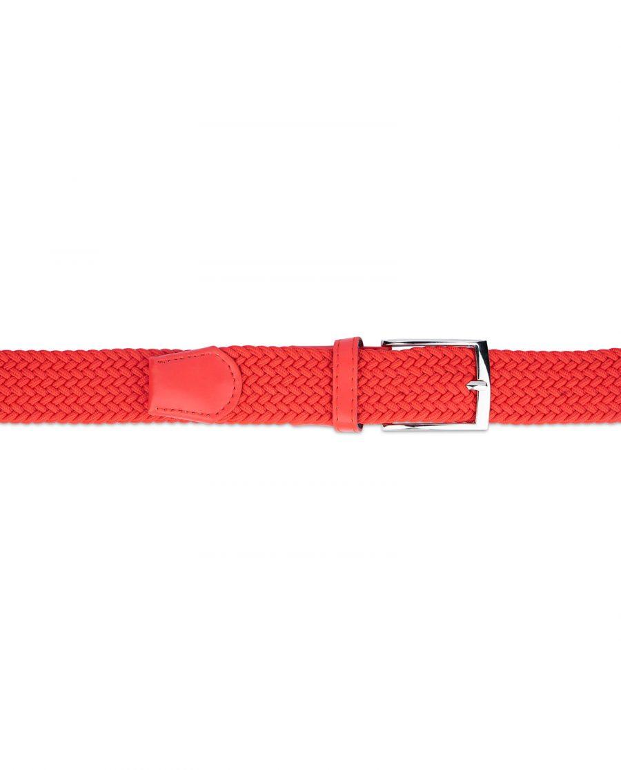 mens red stretch belt 19usd 2