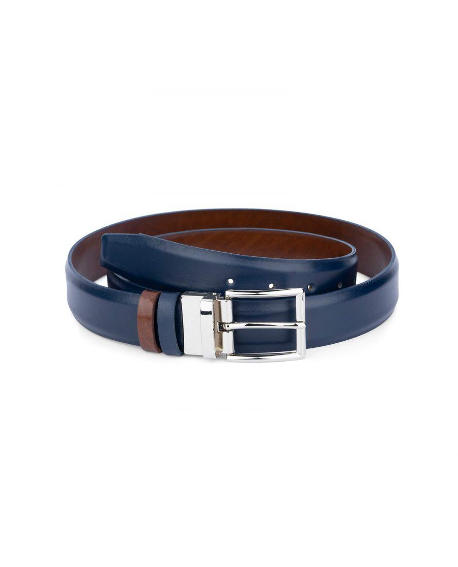 mens reversible vegan belt blue black 35 mm 0
