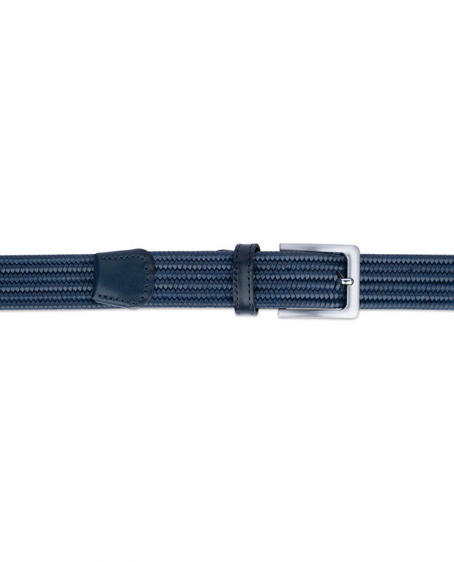 navy blue braided stretch belt for men 35usd 3