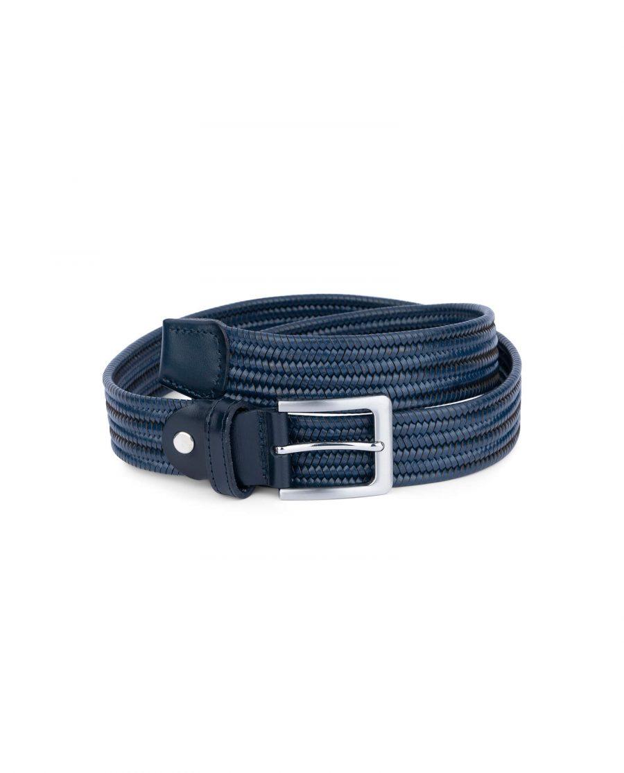 navy blue braided stretch belt for men 35usd 4