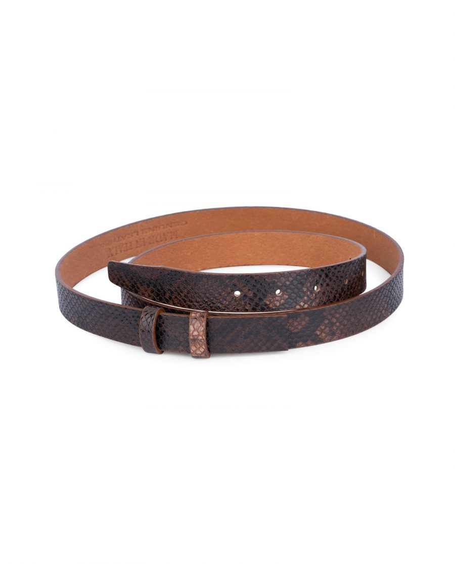 replacement brown snake print belt strap 25 mm 0
