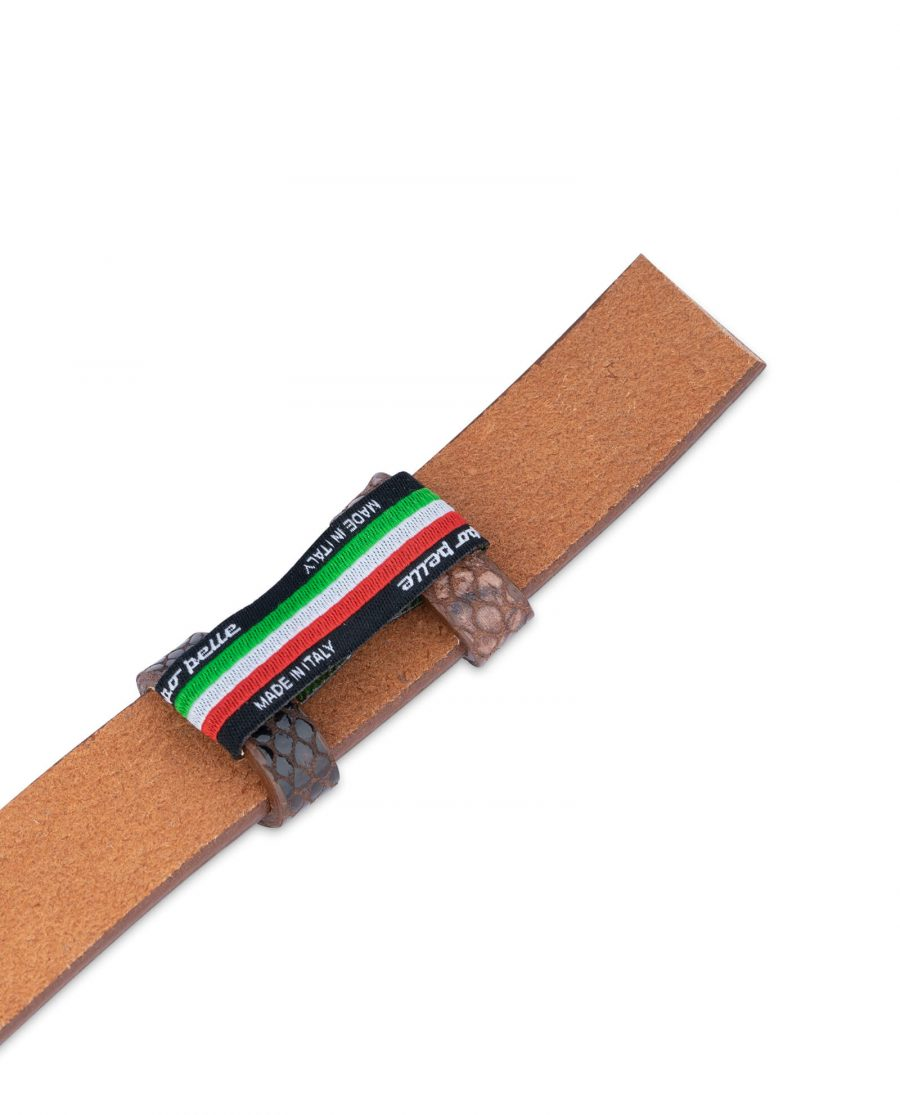 replacement brown snake print belt strap 25 mm 1