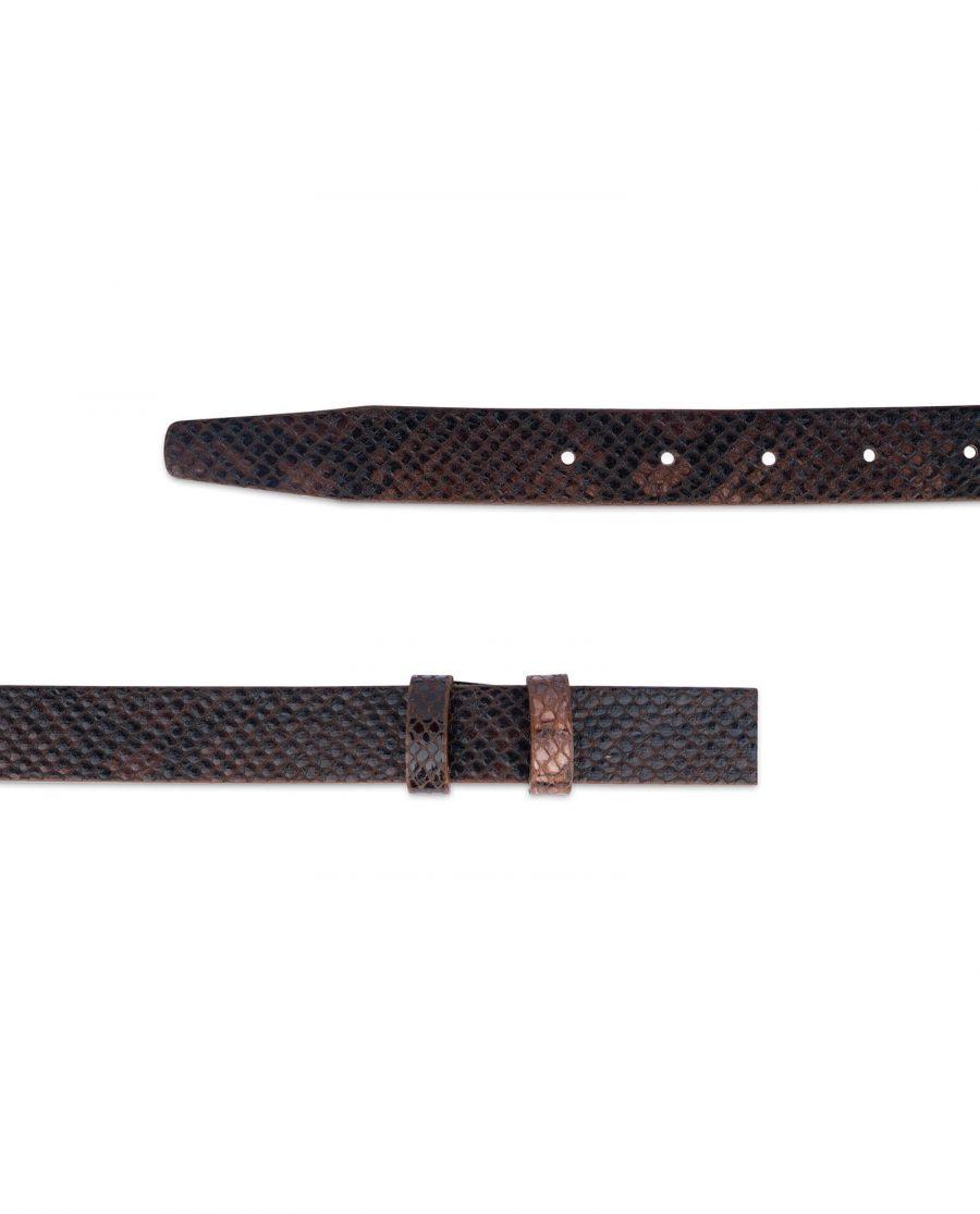 replacement brown snake print belt strap 25 mm sz28 42 2