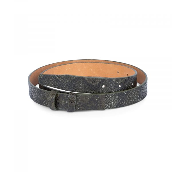 replacement green snake print belt strap 25 mm 0
