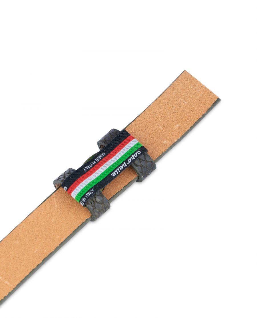 replacement green snake print belt strap 25 mm 1
