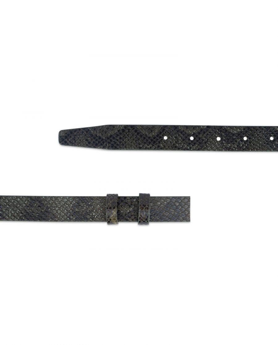 replacement green snake print belt strap 25 mm sz28 40 2