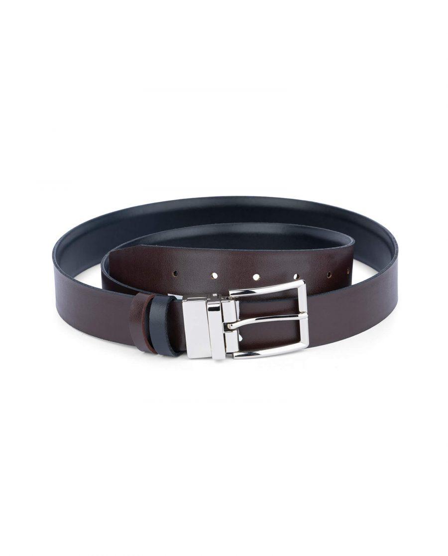 reversible vegan belt for men black brown 35 mm 1