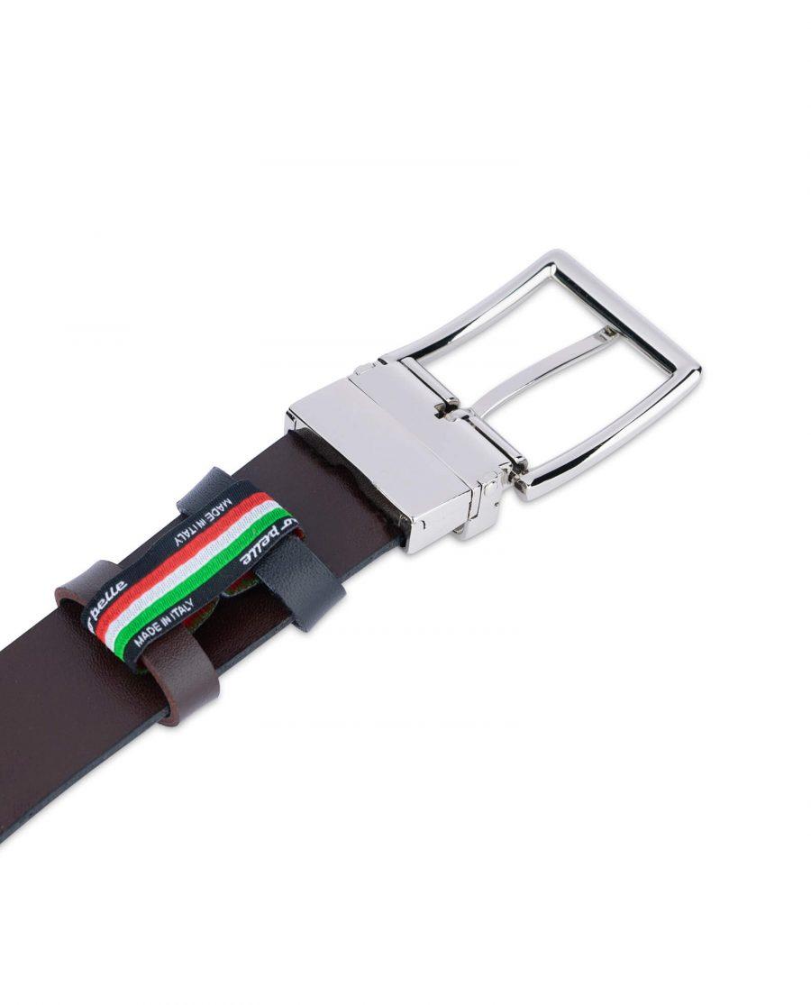 reversible vegan belt for men black brown 35 mm 2