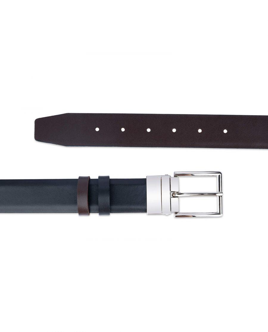 reversible vegan belt for men black brown 35 mm 3