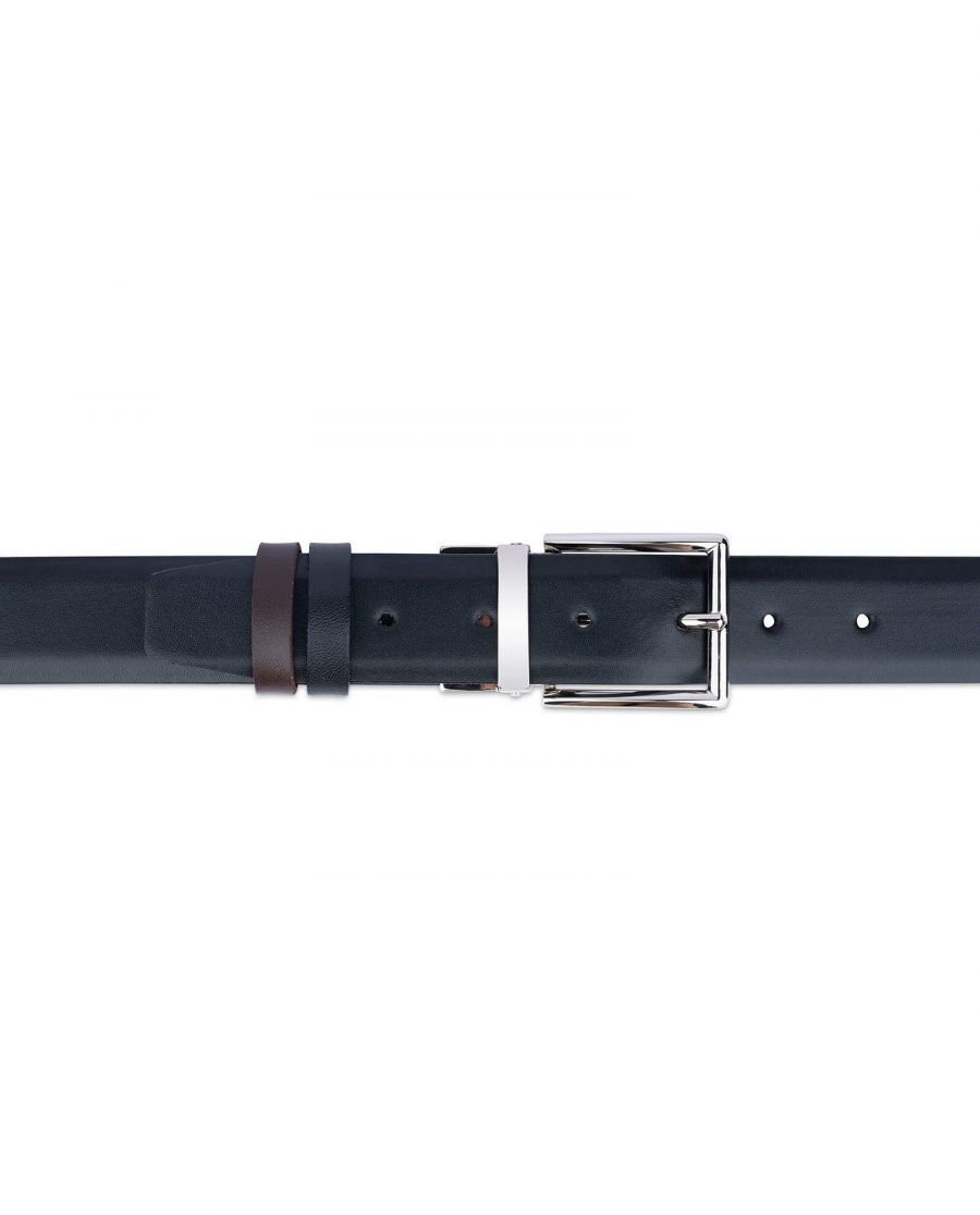 reversible vegan belt for men black brown 35 mm 4