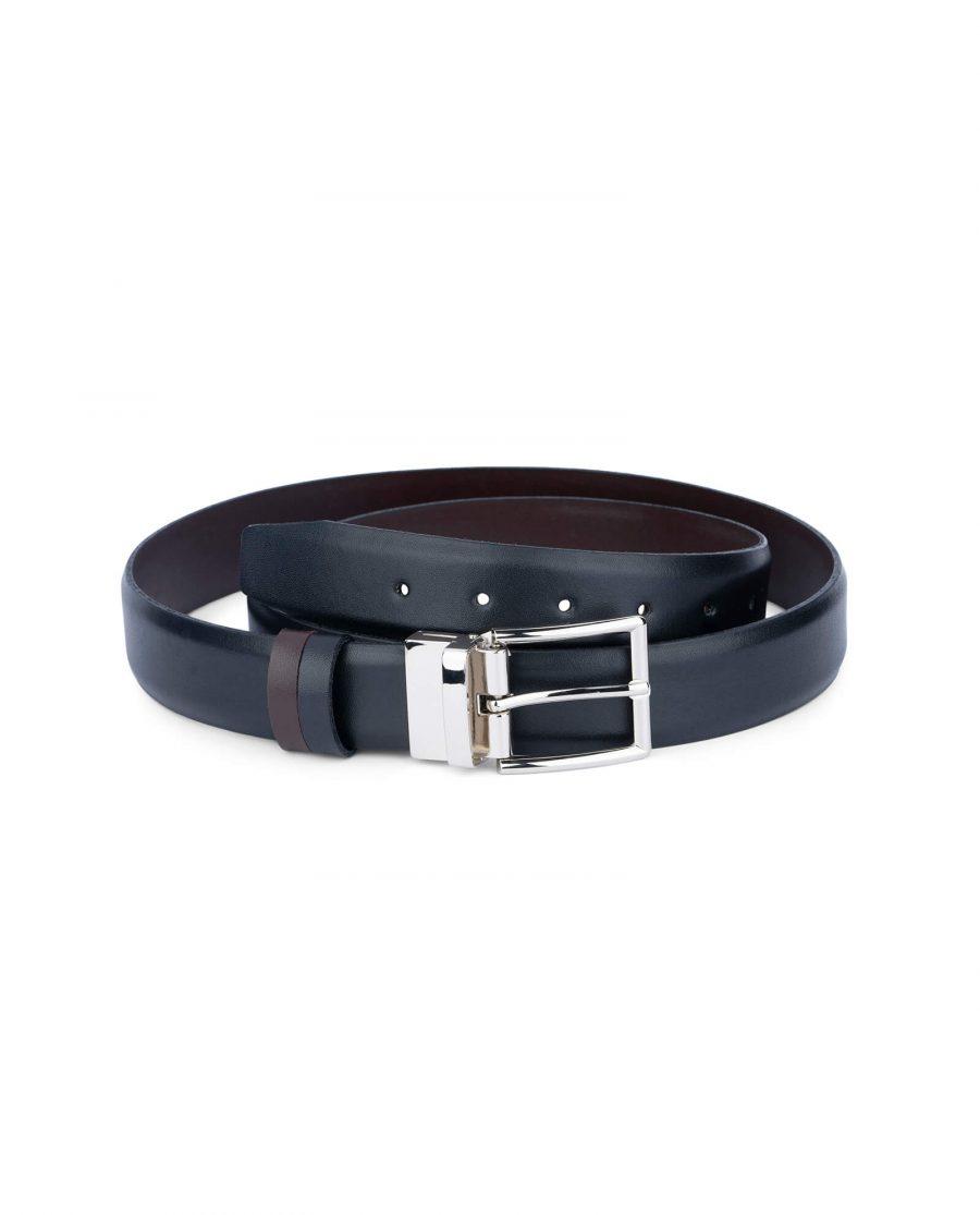 reversible vegan belt for men black brown 35 mm sz28 44 5