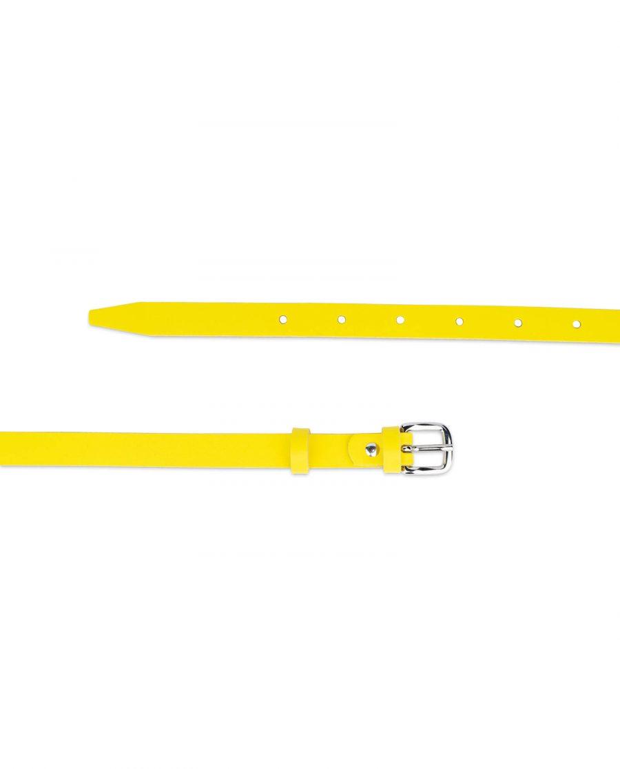 skinny womens yellow belt 15 mm 2