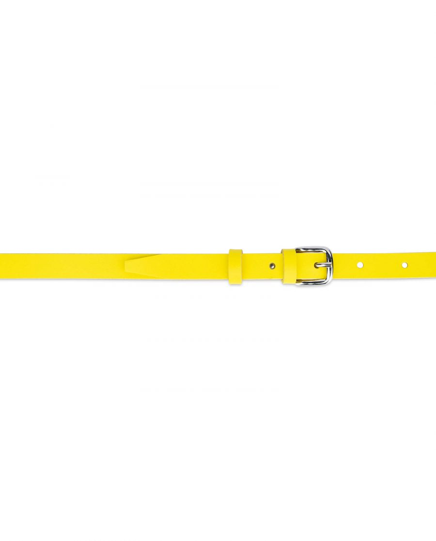 skinny womens yellow belt 15 mm 3